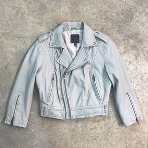 Joie Dolores B Paper | Cropped Leather Moto Jacket